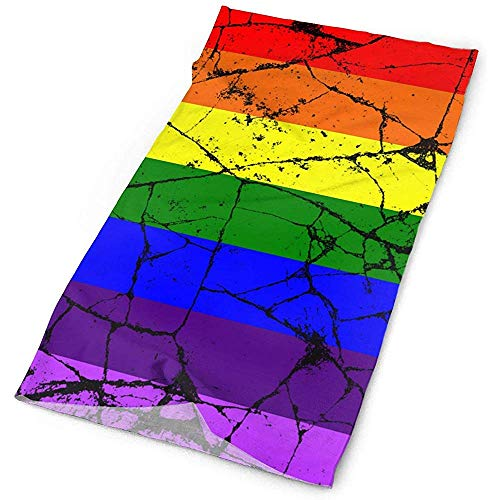 Pañuelo Crack LGBT Gay Rainbow Flag Bufanda Multifuncional Mascarilla Cuello al Aire...
