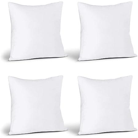Utopia Bedding Coussins de Garnissage 50 x 50 cm (Lot de 4) - Coussin à Recouvrir - Oreillers Intérieur - Rembourrage Coussins - Housse en Mélange de Coton (Blanc)