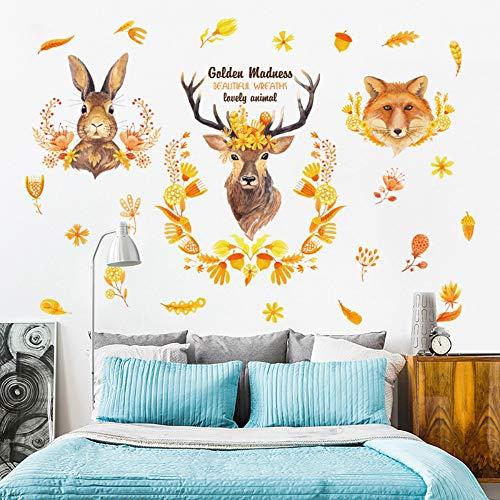 Gouden slingers betoverende dieren Avatar muursticker konijntje geel vos laten kinderkamer woonkamer decoratie huis vinyl muur