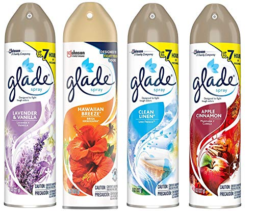 Glade Spray Collection 4 Flavors: Lavender & Peach Blossom
