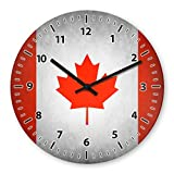 Wanduhr mit Motiv - Kanada Flagge   Echt-Glas   R&   Küchenuhr   Modern