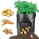 HYRIXDIRECT 2 Pack 10 Gallon Black Grow Bags Portable Potato Growing...