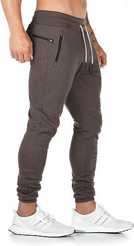 Yageshark Pantalon de Jogging Homme Coton Mode Training Pantalon de Survêtement Taille Élastique Casual Activewear Pa...