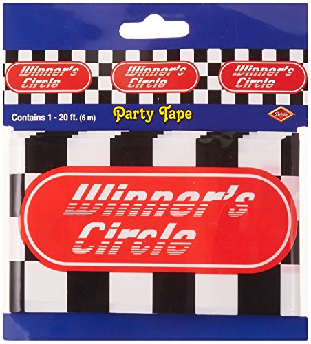 Beistle - 66115 - Winners Circle Party Tape-Pack de 12