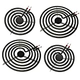 S-Union 4 Pack MP22YA Electric Range Burner Element Unit Set - 2 pcs MP15YA 6' and 2 pcs MP21YA 8' Replacement...