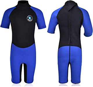 Kids Wetsuit Shorty Boys Girls 3mm Neoprene One Piece Thermal Swimsuit 2mm Warm Full Long Sleeve Wet Suits Cover Toddler Child Junior Youth Swim Surf Dive