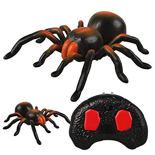 Gruwelijke afstandsbediening Spider Toy, gemaakt van hoogwaardig kunststof, gloeiende led-ogen, simulatie, textuur, universele wielvrije besturing, voor cadeau Halloween