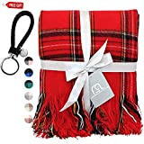 Contempo Lifestyles Blanket Buffalo Plaid Throw Blanket 50 x 60 Inch Decorative Classic Blanket – Comfortable and Ultra-Soft – Ideal for Living Room, Couch, Travelling, Gifts, (Red Multi)
