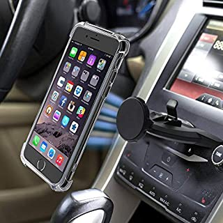 Manords Magnetic CD Slot Car Phone Mount, Universal 360 Rotation Phone Holder Compatible iPhone XsMax/Xs/X/8/8Plus/7Plus/Samsung Galaxy S9 and More, with Extra iPhone X/Xs Phone Case