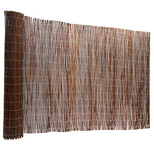 Certeo Weidenzaun | Weidenmatte | Natürlicher Sichtschutz | HxL 150 x 500 cm | Platzmatte Tischmatte Matte
