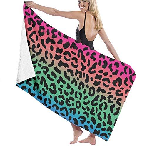 Toallas de Playa de Leopardo Multicolor Toallas de Ducha de baño Ligeras de Microfibra para Viajes SPA Piscina para Mujeres Hombres