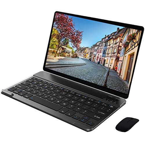 Tablet 10 Pollici con Tastiera 64GB ROM 4GB RAM 4G Wifi Octa-Core,Android 9.0 Dual Sim,Dual Fotocamera Voukou S9(Nero con Tastiera)