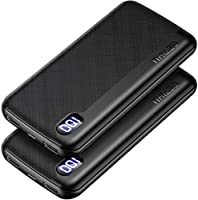 GETIHU [2個セット] モバイルバッテリー 軽量USB C急速充電 大容量 10000mAh LEDディスプレイ残量表示 スマホ充電器 携帯バッテリー iPhone 12 11 Pro X iPad Airpods Xperia...