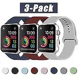 INZAKI Compatibile con Cinturino Apple Watch 42mm 44mm, Cinturino di Ricambio Sportivo Classico in Silicone Morbido per...