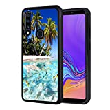 Galaxy A20 Case, Galaxy A30 Case, Slim Anti-Scratch Shockproof Rubber Protective Cover for Samsung Galaxy A20 / A30 (2019),Beach Palm Tree Fish Shark