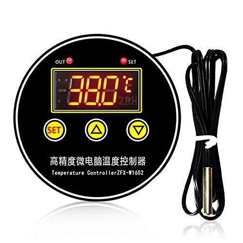 Controlador de Temperatura Digital ZFX-W1602, Interruptor de termostato de Control de Temperatura de Sensor NTC de refrigeración Inteligente para congelador y Nevera