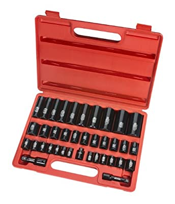TEKTON 4888 3/8-Inch and 1/2-Inch Drive Impact Socket Set, Inch/Metric, Cr-V, 6-Point, 3/8-Inch - 1-1/4-Inch, 8 mm - 32 mm, 38-Piece