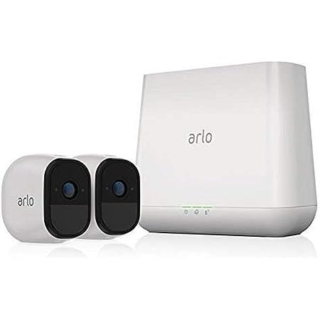 Arlo Pro - 見守りカメラ 2 台セット高画質 ワイヤレス ペットカメラ 簡単設置 動体検知 ネットワークカメラ 防犯 監視 ワイヤレス 夜間撮影 防水 Alexa 認定取得 VMS4230