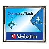 Verbatim 4GB CompactFlash Memory Card, 95188 Black