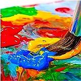 int!rend Acryl Farben Set Künstlerfarben mit Pinsel 14 Acrylfarben x 18 ml für Kinder & Erwachsene, wasserfest für Leinwand, Holz, Ton, Papier - 11