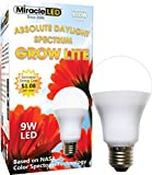 Miracle LED Absolute Daylight Spectrum Grow Lite - Replaces up to 100W - Full Spectrum Hydroponic LED Plant Growing Light Bulb for Greenhouse, Garden, and Indoor (605088)