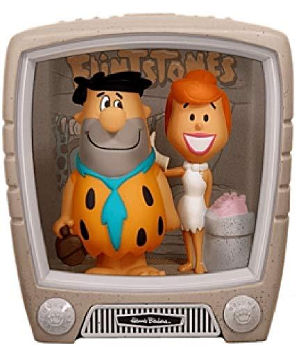 Wacky Wobbler Fred + Wilma Los Picapiedra TV Set con 2 Figuras PVC APPR 15cm de Funko