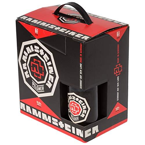 """Rammstein 6Pack Bier """"Rammsteiner"""" (6 x 0.5 L), Offizielles Band Merchandise Fan Getränk Bier Alkohol Geschenk"""