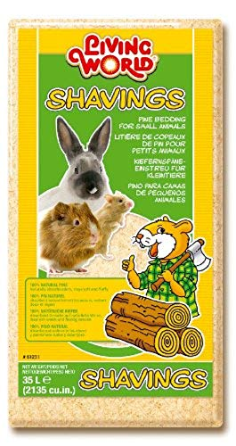 Living World 100% natürliches Kiefernspäne-Einstreu für Kleintiere, 35l