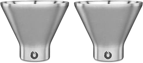 Snowfox Insulated Stainless Steel Margarita and Martini Cocktail Glass, Set of 2, Set