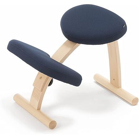 バランスチェア イージー ネイビー 姿勢が良くなる椅子 学習椅子 姿勢 矯正 椅子 猫背 子供用 幅53cm×高さ54cm×奥行62~72cm 耐荷重100kg