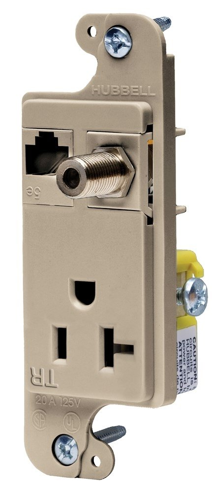 Hubbell Wiring SALENEW very popular! Systems RJ620ALTR Credence JLOAD tradeSELECT Tamper-Resist