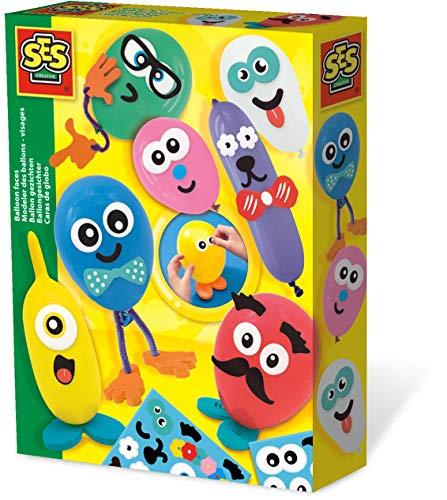 SES Creative 14016 Ballongesichter Ballons Dekorieren, Diverse Farben