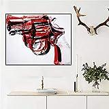 ganlanshu Pintura sin Marco Arma Abstracta Lienzo de Arte Pop para Sala de Estar y póster decoración del hogarCGQ7786 52X70cm