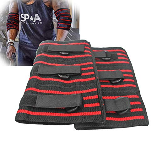 Adjustable Elbow Sleeve, 1 pair Strong Elebow Support Brace Compression Powerlifting, Weightlifting Man (L)