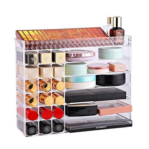 YYLL Multi Shelf Terminador de cosméticos de Escritorio de Gran Capacidad, Horizontal/Vertical. (Color : Clear)