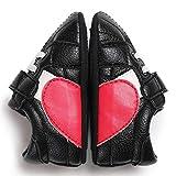 YYQX-4X Zapatos de bebé de Cuero, Zapatos de bebé de 0-1 años Zapatos de bebé Semi-Adhesivos de PU Zapatos de recién Nacido con Velcro/Zapatos de bebé Primavera y otoño,Negro,12cm