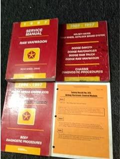 1997 DODGE RAM VAN WAGON Service Repair Shop Manual Set W Diagnostics + Recall