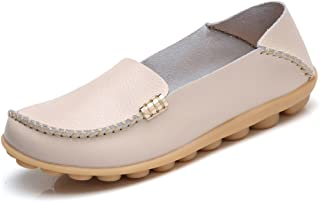 Best ladies flat leather loafers Reviews
