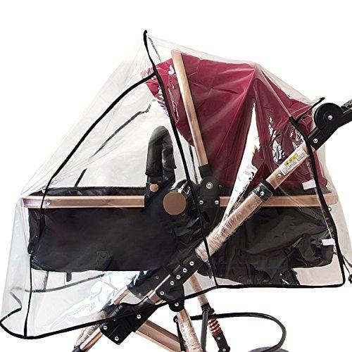 Meliya Universelle bébé Poussette Pluie en PVC étanche Pluie Poussette Pluie météo écran Couvre-lit pour Poussette Landau