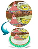 Spongebob Meme I Thought of Something Funnier Round Personalized Edible Cake Image Cake Topper Decoration - 6' Inches Circle