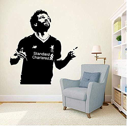 Pegatinas de pared y murales Futbolista Vinilo Adhesivo Mural Liverpool Soccer Wallpaper Decoración para el hogar Dormitorio Art Poster 57 * 62com