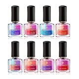 Born Pretty Nail Art Thermal Polish Peel Off Sunlight Sensitive Color Changing Lacquer Varnish DIY Manicure 8 Colors