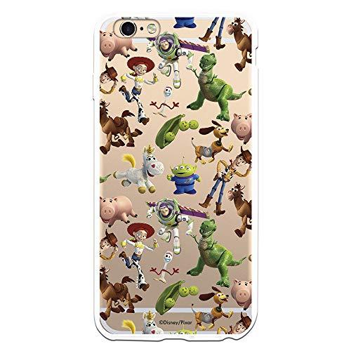 Funda para iPhone 6 Plus - 6S Plus Oficial de Toy Story Muñecos Toy Story Siluetas para Proteger tu móvil. Carcasa para Apple de Silicona Flexible con Licencia Oficial de Disney.