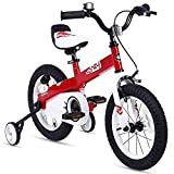 RoyalBaby Boys Girls Kids Bike 14 Inch Honey Bicycles with Training Wheels Child Bicycle Red