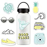 Yonreuk Sticker- 10pcs / set pegatinas para botellas de agua lindo impermeable perfecto para computadora portátil, automóvil, teléfono, 2 pulgadas