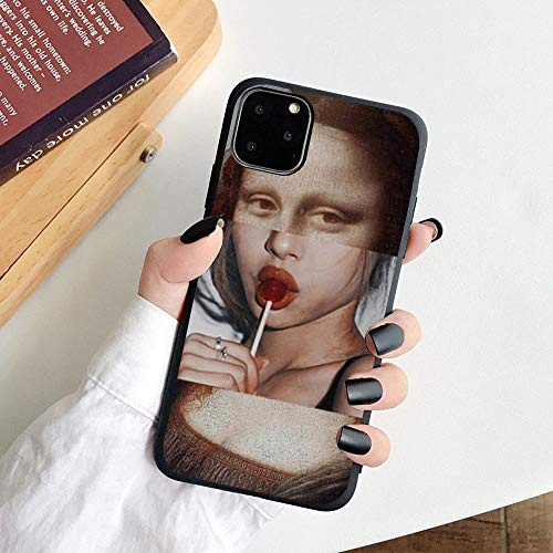 HNZZ Tmrtcgy para iPhone 11 Case Mona Lisa Art David Soft TPU Funda para teléfono para Apple iPhone 12 7 8 Plus XR XS 11PRO MAX Case (Color : 10, Size : Iphone11)
