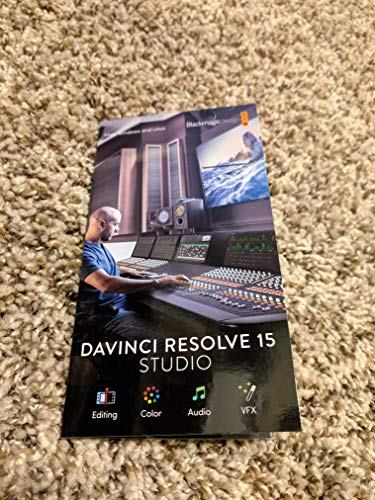 Blackmagic Design Davinci Resolve Studio Activation Card Buy Online In Cape Verde Blackmagic Design Products In Cape Verde See Prices Reviews And Free Delivery Over 7 000 Esc Desertcart