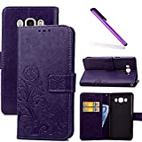 COTDINFOR Samsung Galaxy J5 2016 Case Wallet Bookstyle Pu