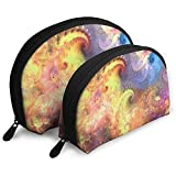 Fondo de Arte Abstracto Colorido Bolsas portátiles Bolsa de Maquillaje Bolsa de Aseo Bolsas de Viaje portátiles multifunción con Cremallera