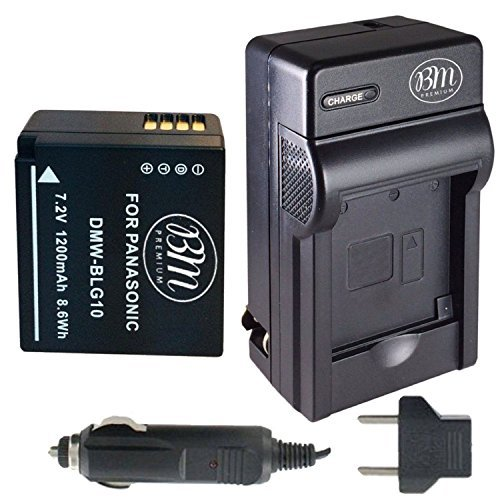 BM Premium DMW-BLG10 Battery and Charger for Panasonic Lumix DC-G100, DC-ZS80, DC-GX9, DC-LX100 II, DC-ZS200, DC-ZS70, DMC-GX80, DMC-GX85, DMC-ZS60, DMC-ZS100, DMC-GF6, DMC-GX7K, DMC-LX100K Cameras